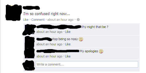 attention seeking,confused,vaguebooking