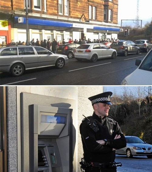 A Broken ATM in Scotland Accidentally Double Pays Customers