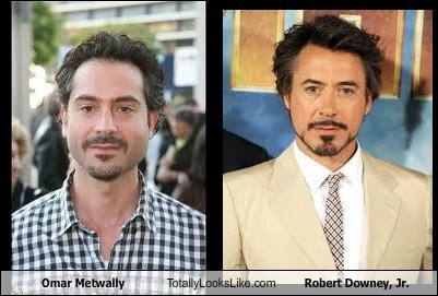 Omar Metwally Totally Looks Like Robert Downey, Jr.