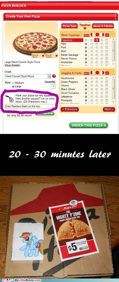 Pizza Hut Bronies