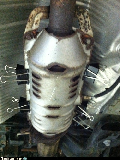 Catalytic Converter Heat Shield Repair