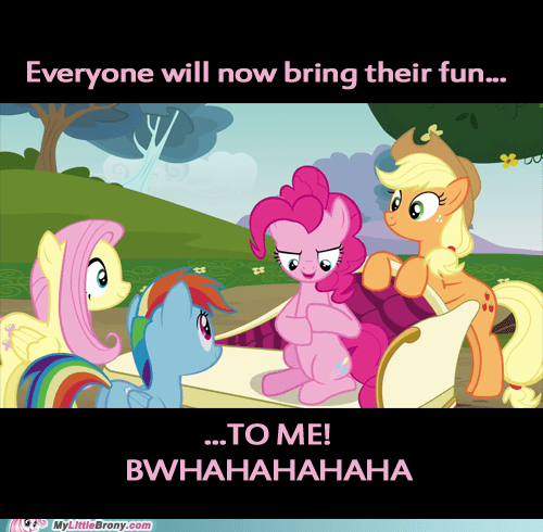 Pinkie Pie's version of an evil plan