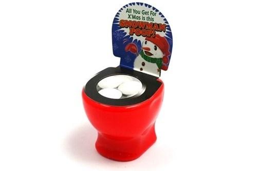 candy,gum,poop,snow,toilet,snowman