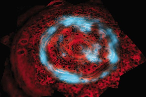Space Shot of the Day: Unusual Auroras Over Saturn's North Pole