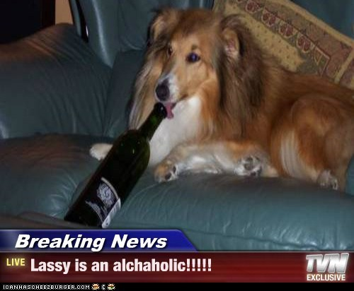 Breaking News - Lassy is an alchaholic!!!!!
