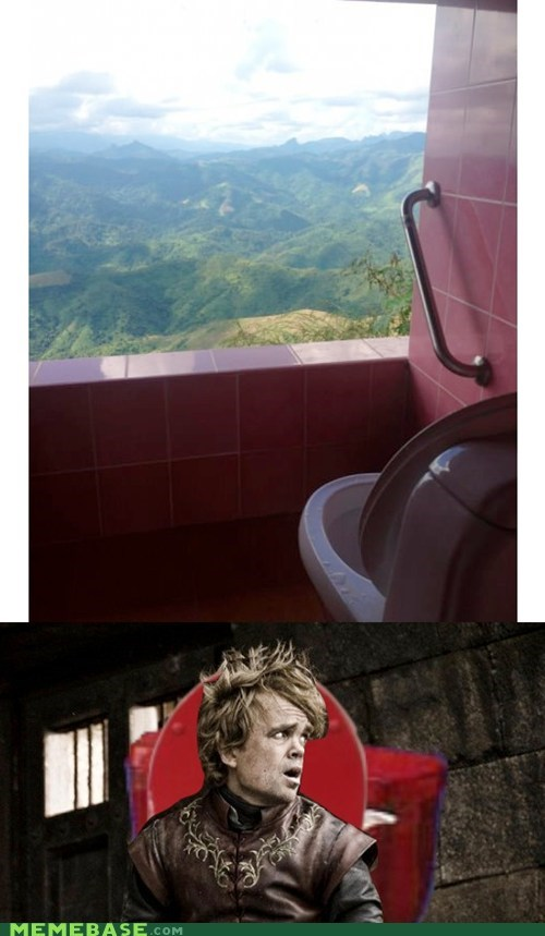 Tyrion really likes the toilets in Thailand