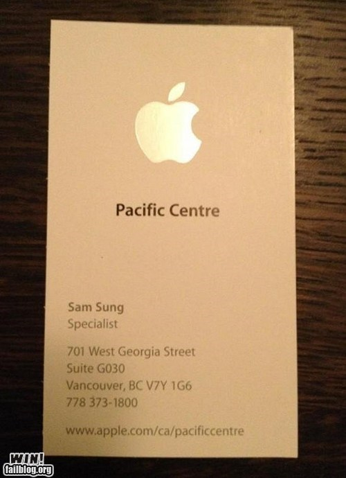 Samsung,irony,name,iphone,job application