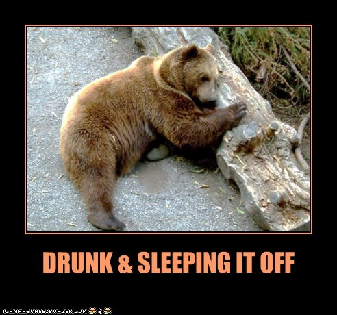 DRUNK & SLEEPING IT OFF