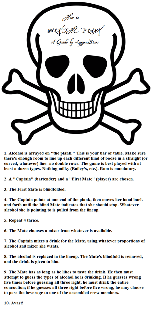 A Drinking Game Fit For a True Pirate