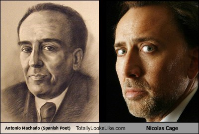 Antonio Machado (Spanish Poet) Totally Looks Like Nicolas Cage