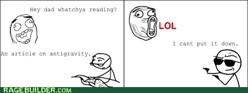 reading,newspaper guy,lol,Gravity