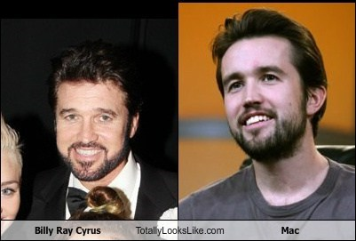 Billy Ray Cyrus Totally Looks Like Rob McElhenney