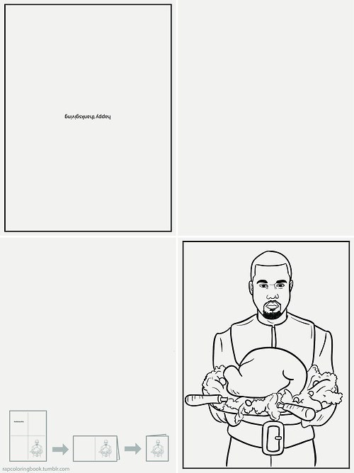 Kanye Thanksgiving Greeting Card