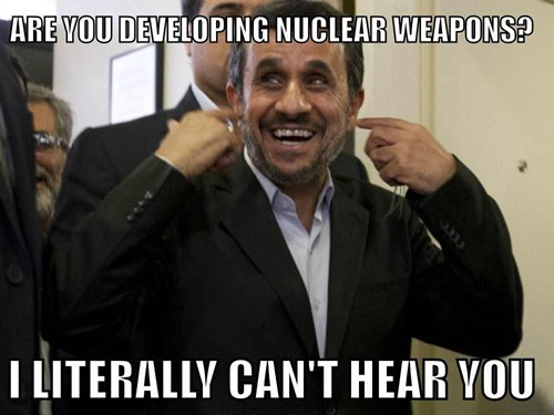 Mahmoud Ahmadinejad,plugging your ears,nuclear weapons,iran,la la la