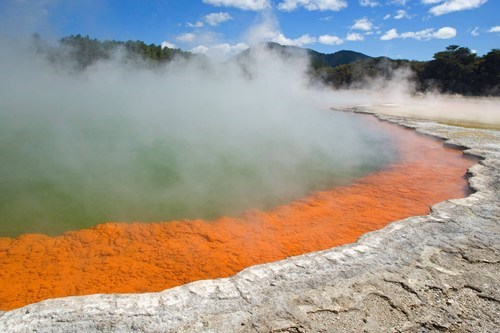 New Zealand's Colorful Hot Spring