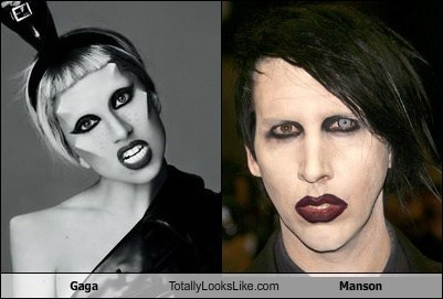 Lady Gaga Totally Looks Like Marilyn Manson