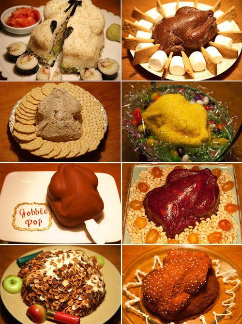 Om Nom Nom of the Day: Turkey-Shaped Dishes