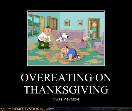 OVEREATING ON THANKSGIVING