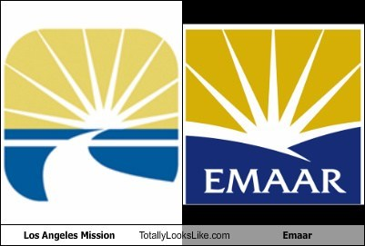 Los Angeles Mission Logo Totally Looks Like Emaar Logo