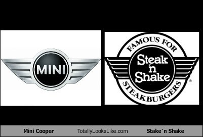Mini Cooper Logo Totally Looks Like Steak`n Shake Logo