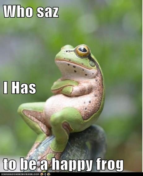 Who saz I Has  to be a happy frog