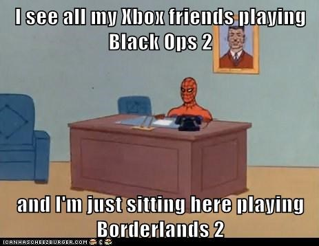 I see all my Xbox friends playing Black Ops 2  and I'm just sitting here playing Borderlands 2