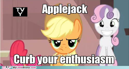 applejack,so excited,one bad apple