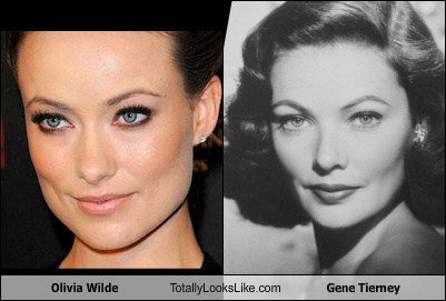 Olivia Wilde Totally Looks Like Gene Tierney