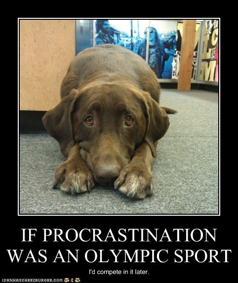 IF PROCRASTINATION WAS AN OLYMPIC SPORT