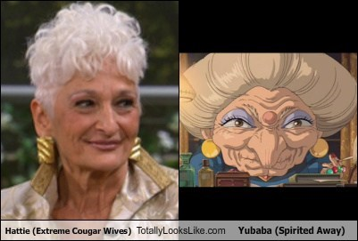 Hattie Wiener (Extreme Cougar Wives) Totally Looks Like Yubaba (Spirited Away)
