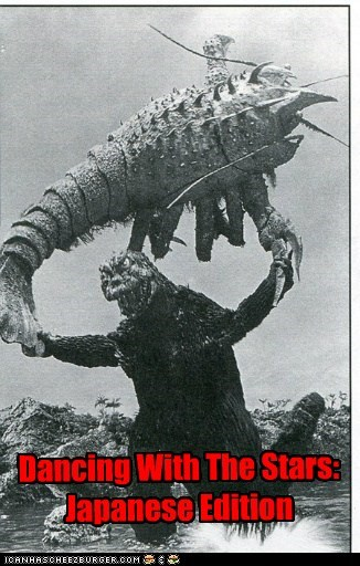 lobster,Dancing With The Stars,godzilla,japanese,giant,throwing,swing,fighting