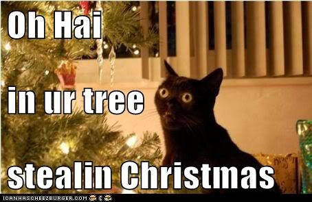 Oh Hai in ur tree stealin Christmas