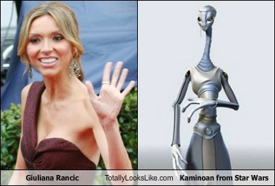 Giuliana Rancic Totally Looks Like Kaminoan from Star Wars
