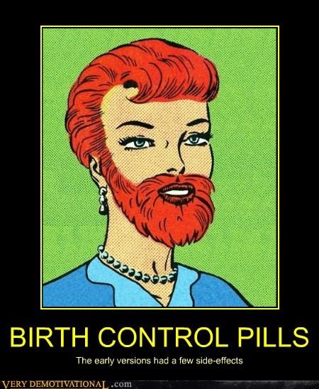 beard,pills,birth control
