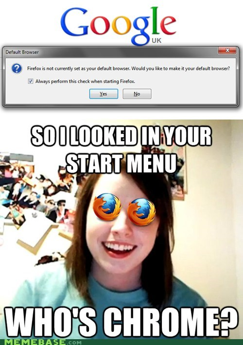 overly attached girlfriend,firefox,chrome,browser wars