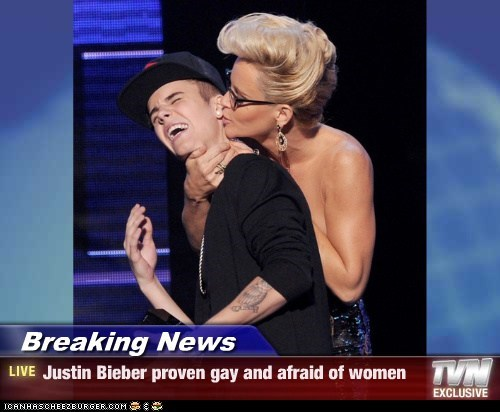 Breaking News - Justin Bieber proven gay and afraid of women