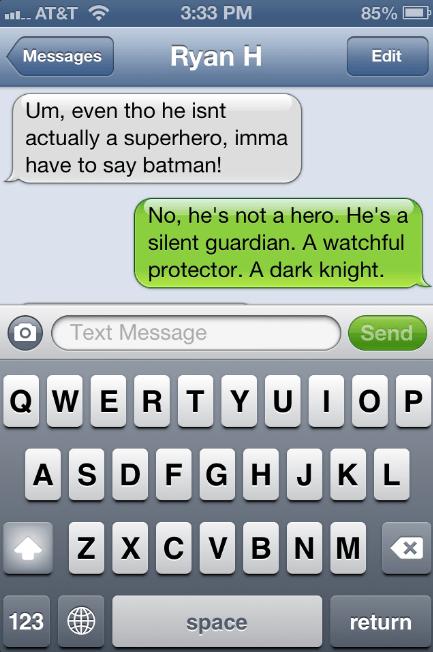 superheros,iPhones,dark knight,batman,cleared up