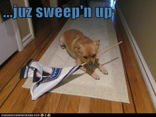 ...juz sweep'n up