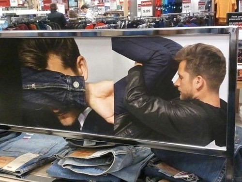 jeans,accidental sexy,store display