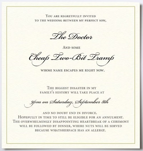 Wedding Invitation,upset parents