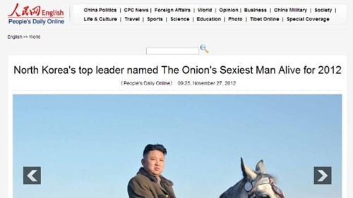 Official Chinese News Website Thinks The Onion is Real
