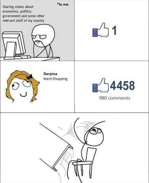 flipping the table,went shopping,derpina,Rage Comics,failbook,g rated