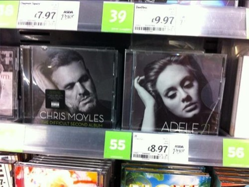 adele,chris moyles,album covers