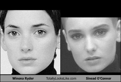 Winona Ryder Totally Looks Like Sinead O'Connor