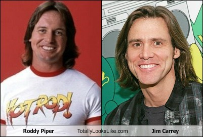 Roddy Piper Totally Looks Like Jim Carrey
