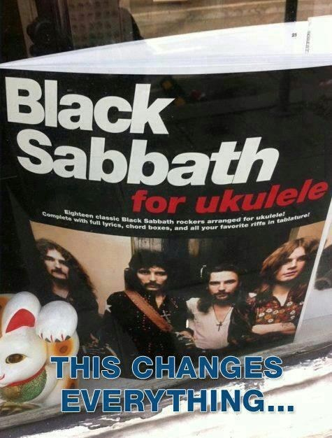 black sabbath,ukelele,song book,Music FAILS,g rated