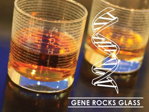 A Glass With the Gene Sequence for Alcohol? YES PLEASE