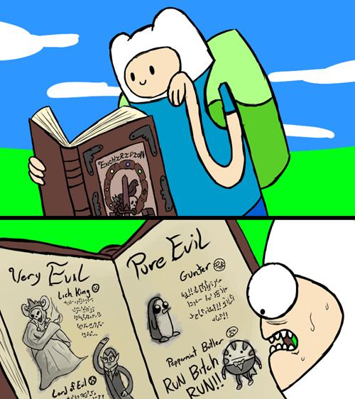 peppermint butler,evil,cartoons,gunther,adventure time