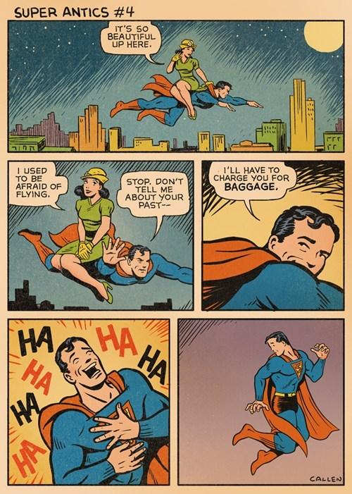 manners,bad joke,lois,superman