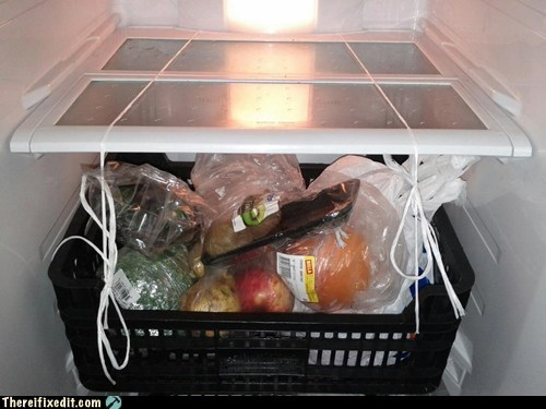 Missing Fridge Shelf? No Problem!